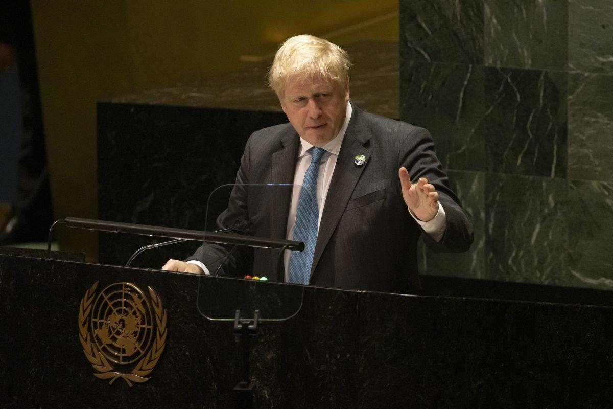 """בוריס ג'ונסון בעצרת האו""""ם"""